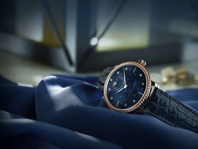 Frederique Constant presents its latest Ladies' timepiece : The Slimline Moonphase Stars Manufacture. (PRNewsfoto/Frederique Constant)