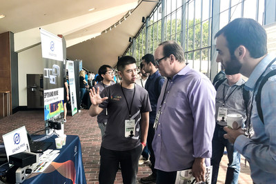 Copper Chan, the CMO of GPT introduced 3D sensors tech to visitors during TechCrunch Robotic Session this June.