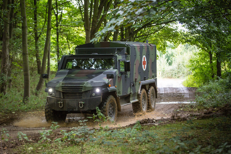 General Dynamics Land Systems–UK and General Dynamics European Land Systems are showcasing the EAGLE 6x6, which will enter trials shortly for a part of the UK's Multi Role Vehicle – Protected (MRV-P) programme, at Defence and Security Equipment International (DSEI).