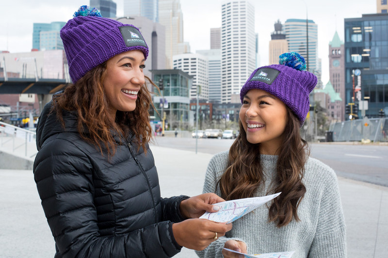 Minnesota Super Bowl Host Committee Crew 52 volunteers will wear beanies from Love Your Melon so they are easy to recognize by guests.