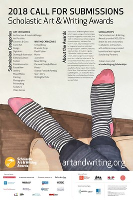 The Scholastic Art & Writing Awards, the nations longest-running and most prestigious scholarship and recognition initiative for creative teens, is now accepting submissions from students across the country in grades 712 for 2018. To learn more about submission details visit www.artandwriting.org. #GoldKey