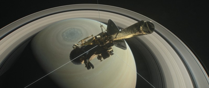 This illustration shows NASA's Cassini spacecraft heading for the gap between Saturn and its rings during one of 22 such dives of the mission's finale. The spacecraft will make a final plunge into the planet's atmosphere on Sept. 15, 2017. Credits: NASA/JPL-Caltech (PRNewsfoto/NASA)