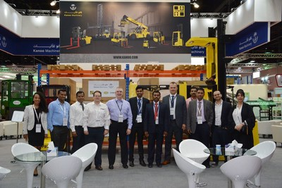 Kanoo Machinery exhibits at Stand F12, Za´abeel 6 at the 9th edition of Materials Handling Middle East in Dubai (PRNewsfoto/The Kanoo Group)