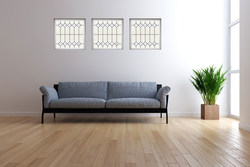 """Mission style windows in 24"""" x 24"""" sizes from Hy-Lite can be positioned together to create wall art for any room in the home."""