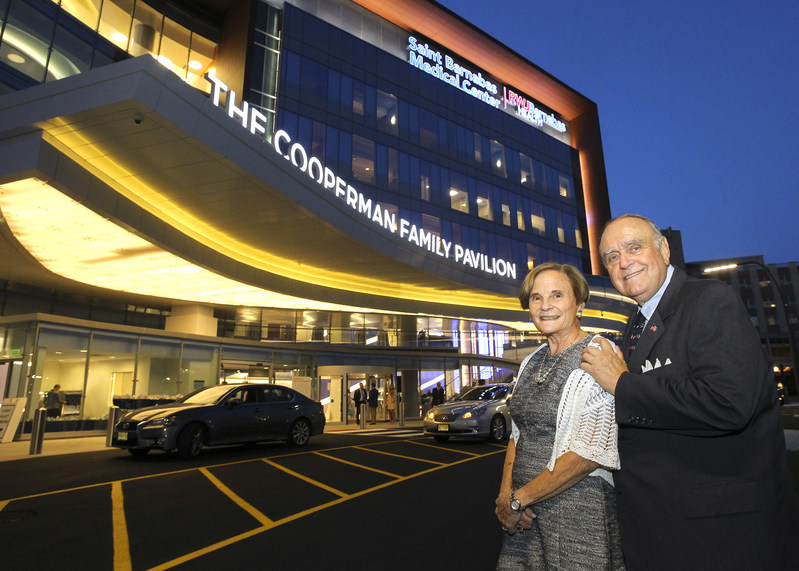 Leon and Toby Cooperman at the Ribbon Cutting for the Cooperman Family Pavilion on September 7, 2017 at Saint Barnabas Medical Center, an RWJBarnabas Health facility, in Livingston, New Jersey.