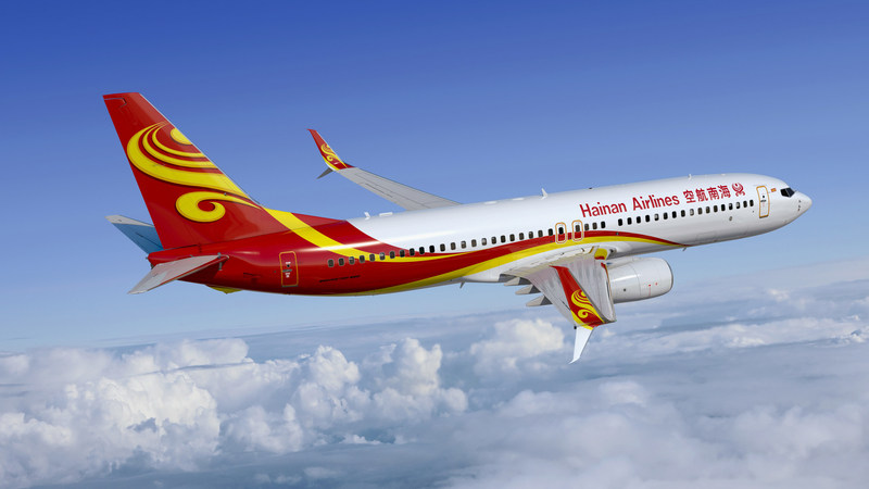 Rendering of a Hainan Airlines Boeing Next-Generation 737-800 with Split Scimitar Winglets
