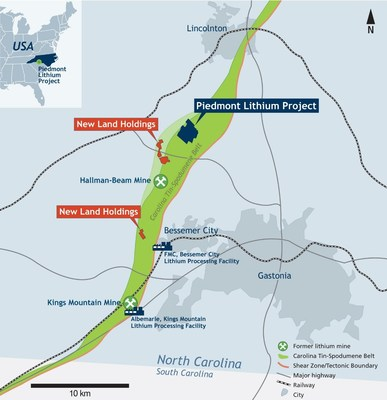 Piedmont Lithium Additional Land Option Agreements