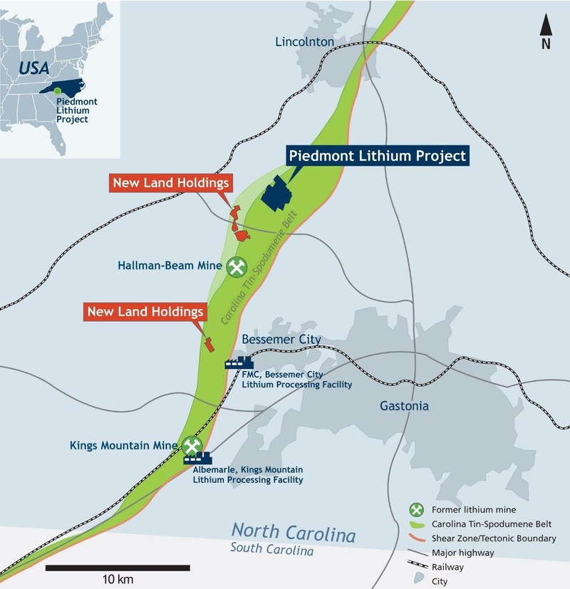 Piedmont Lithium Additional Land Option Agreements