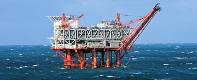 Offshore oil rig in the Gulf of Mexico.