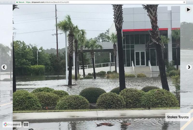 Live slideshow of hurricane photos