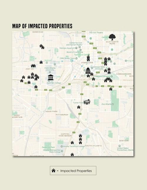 Map of impacted properties