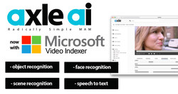 axle ai is radically simple MAM software that now leverages the power of Microsoft Video Indexing to provide powerful metadata tagging (object and scene recognition, face recognition, and speech-to-text conversion) for a wide range of media files.