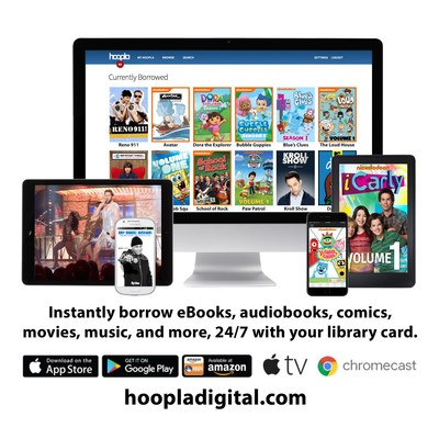 """hoopla digital offers a """"Kids Mode"""" feature, which families can use to search and access kid-friendly titles any time."""