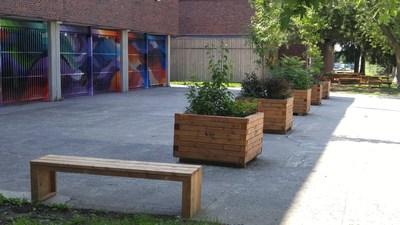Nouvelle entrée de l'école Lester B. Pearson (Groupe CNW/Arrondissement de Montréal-Nord (Ville de Montréal))