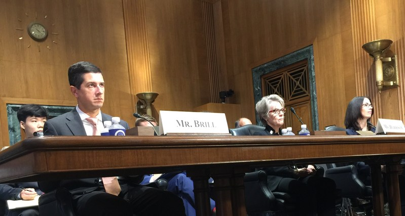 Iona Harrison, (pictured center) chair of NAR's Federal Taxation Committee testifies before the Senate Finance Committee on tax reform.