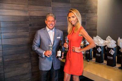 Giuliana Rancic and Terlato Wines CEO, Bill Terlato, enjoying a glass of the newly launched, Giuliana Prosecco at RPM Italian in Chicago, IL.