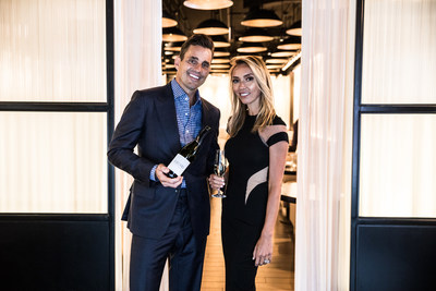 Giuliana and Bill Rancic at RPM Italian in Chicago, IL. enjoying a glass of their newly launched prosecco, Giuliana Prosecco.
