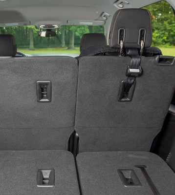 Top Tether Anchors shown in the rear seat of the new 2018 Chevrolet Traverse (General Motors)