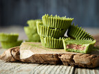 Celebrate Canada's Eighth Annual Organic Week from September 16th to 24th by making the delicious, eye-catching Matcha Almond Butter Cups. This recipe and more can be found at chfa.ca (CNW Group/Canadian Health Food Association)