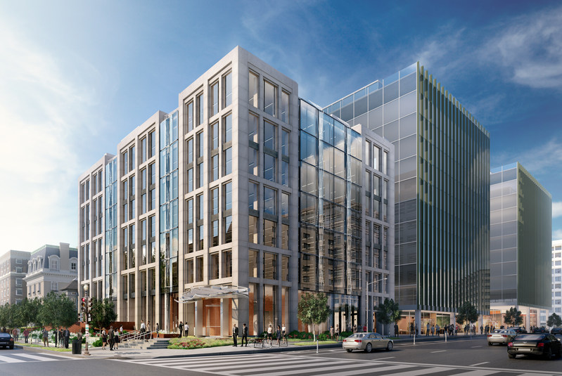1101 Sixteenth strikes the perfect balance between contemporary and classic design on one of DC's most powerful streets. Rendering courtesy of Neoscape 2017