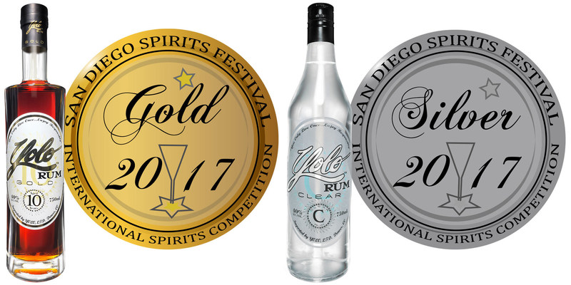 Yolo Rum Takes Gold and Silver Medals at 2017 San Diego Spirits Festival and International Competition
