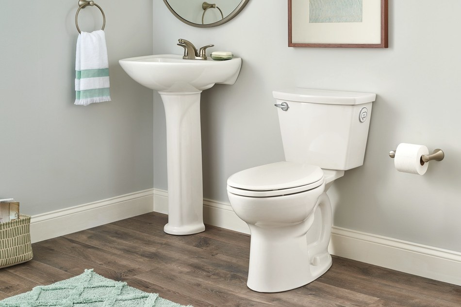 The new ActiFresh toilet technology from American Standard has been proven to be more effective at removing odors compared to other odor-removing options on the market today. This easy-to-maintain toilet eliminates unpleasant odors by filtering them and releasing purified air for a fresh, clean bathroom.