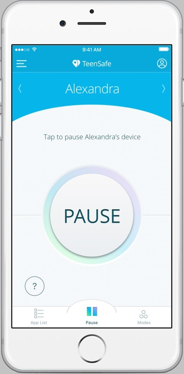 "Parents can use the TeenSafe Control App ""Pause"" feature to remotely lock their teen's iPhone while driving except for making/receiving emergency calls"