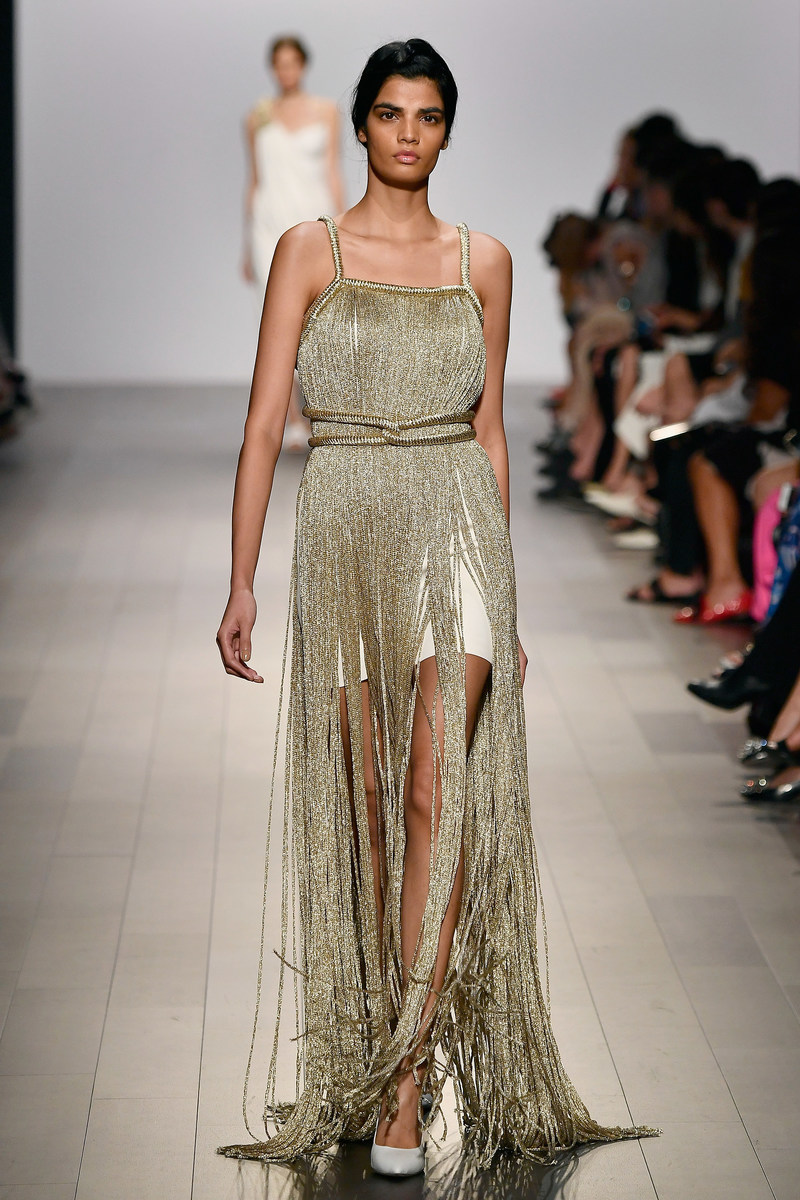 Bhumika walking John Paul Ataker Spring Summer 2018 Runway Show - NYFW