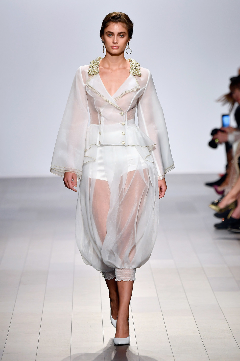 Taylor Hill walking for John Paul Ataker NYFW Runway Show