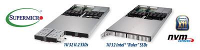 美超微率先推出具有32個熱插拔 NVMe 固態硬盤的 PB 級全閃存 1U JBOF 和伺服器