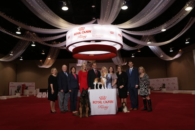 Ohio Lt. Gov. Mary Taylor celebrates the grand opening of ROYAL CANIN RING & Eukanuba Field at the Roberts Centre in Wilmington, Ohio. Kathryn Burton, Columbus Hospitality Management; Doug Ljungren, AKC; Ohio Lt. Gov. Mary Taylor; Erica Vogt, Royal Canin; Jason Taylor, Eukanuba & Royal Canin; Gina DiNardo, AKC; Amanda Hilton, Royal Canin; Danielle Kyriakos, Eukanuba & Royal Canin; Bryce Miner, Office of Ohio House Speaker Cliff Rosenberger; Dr. Jill Cline, Eukanuba & Royal Canin