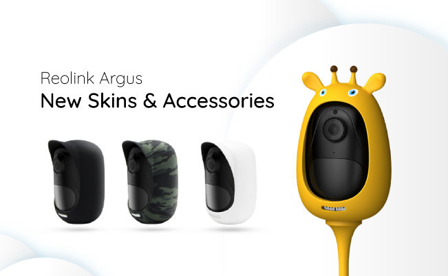 Skins & Accessories for 100% Wire-Free 1080p Weatherproof Security Camera Reolink Argus