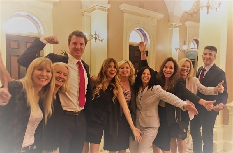 AB 485 ON THE GOVERNOR'S DESK - Haze Lynn, Patty Shenker, Senator Henry Stern, Simone Reyes, Senator Cathleen Galgiani, Judie Mancuso, Shelley Elam, Carol Dalton, and Nickolaus Sackett
