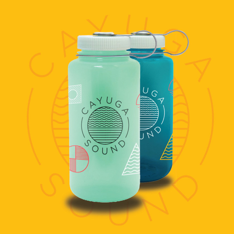 In an effort to decrease waste, the Cayuga Festival will not sell disposable plastic water bottles to patrons. Festival artists will receive complimentary custom-designed Nalgene bottles, and concert-goers can donate to receive the same bottles to use at free filtered water refill stations throughout the festival, eliminating the need for disposable plastic bottles. Funds from bottle sales benefit non-profit organizations. Nalgene bottles are made in Rochester, NY and are BPA- and BPS-free.