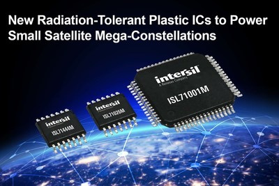 Intersil's new radiation-tolerant plastic ICs enable a cost effective system solution for the emerging field of low earth orbit (LEO) small satellite mega-constellations.