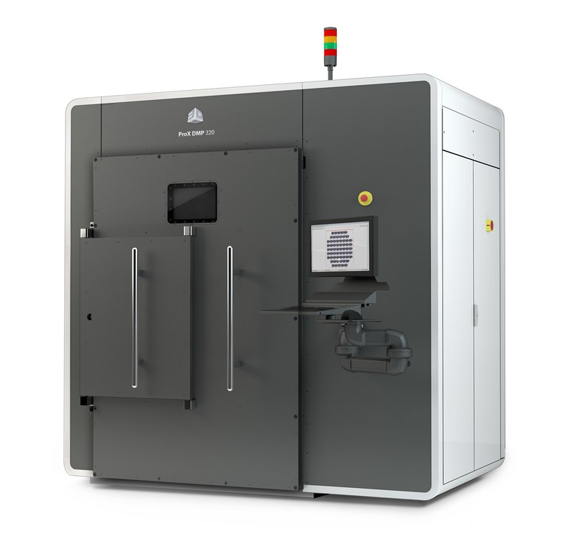 3D Systems' ProX® DMP 320 is the high precision, high throughput direct metal printer optimized for critical applications requiring complex, chemically-pure titanium, stainless steel or nickel super alloy parts.