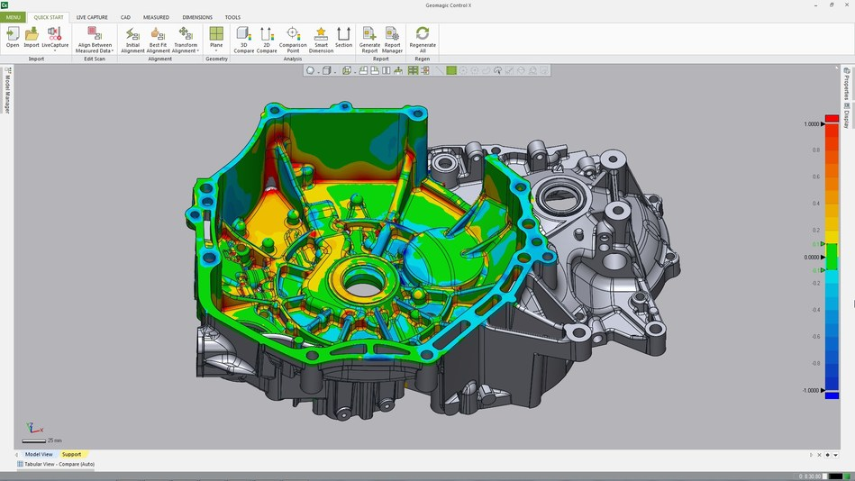 3D Systems' Geomagic Control X 2018 features a new user interface that provides the fastest path to inspection results.