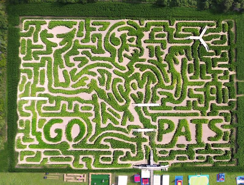 "Explore the world famous ""Go PATS"" Mega Maze at the All New Davis Mega Farm Festival - opening Friday, September 22nd."