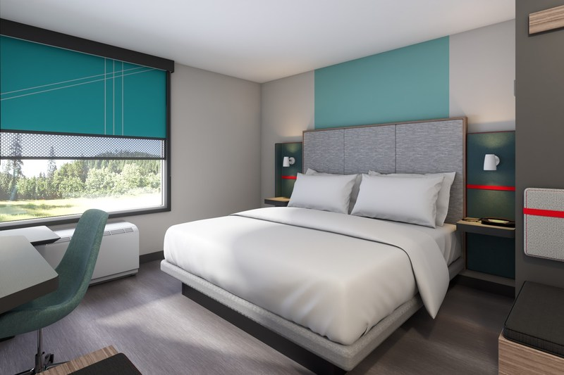 avid hotels guest rooms are constructed with sound reducing features for a superior night's sleep and offer a dedicated workspace as well as ample open, easy-to-use storage.