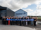 Caption: Mayor of Sola, Mr. Ole Ueland cuts the ribbon on Sikorsky's newly expanded Forward Stocking Location in Stavanger, Norway. Sikorsky hosted a celebration today marking the one-year anniversary of operations in its Stavanger Forward Stocking Location.