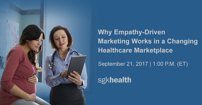 """SGK Health's Karin E. Bauer, VP of Client Services and Teresa Diehl, Associate Creative Director,  Will present """"Why Empathy-Driven Marketing Works in a Changing Healthcare Marketplace"""" on  September 21, 2017, 1:00 P.M (ET) https://www.brandsquare.com"""