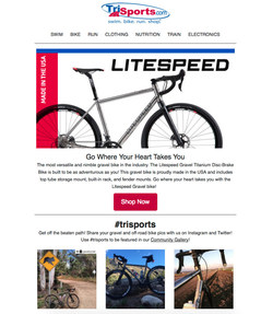 Curated user-generated content visuals are displayed in this triggered email campaign example (PRNewsfoto/Pixlee)