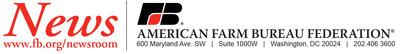 American Farm Bureau Federation News release letterhead (PRNewsfoto/American Farm Bureau Federation)