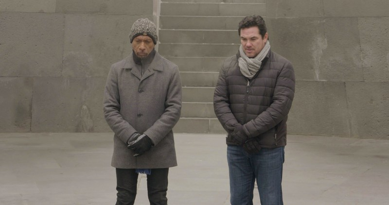 Executive Producers Dean Cain and Montel Williams in ARCHITECTS OF DENIAL.