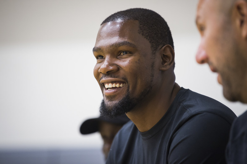 Basketball superstar Kevin Durant is teaming up with Alaska Airlines to support youth and education programs in the San Francisco Bay Area