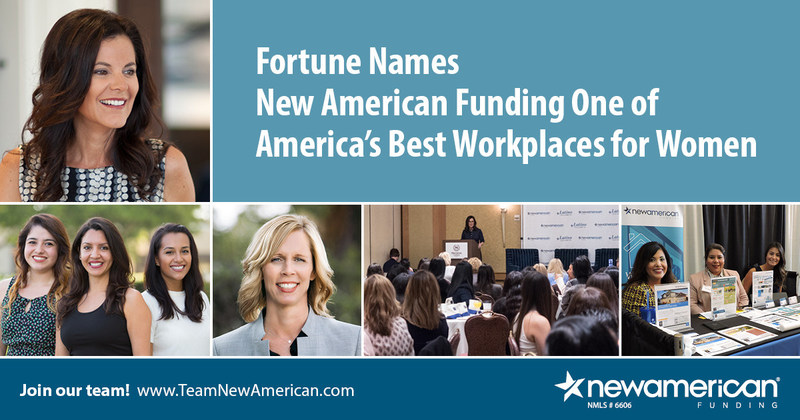 Fortune Names New American Funding One of America's Best Workplaces for Women
