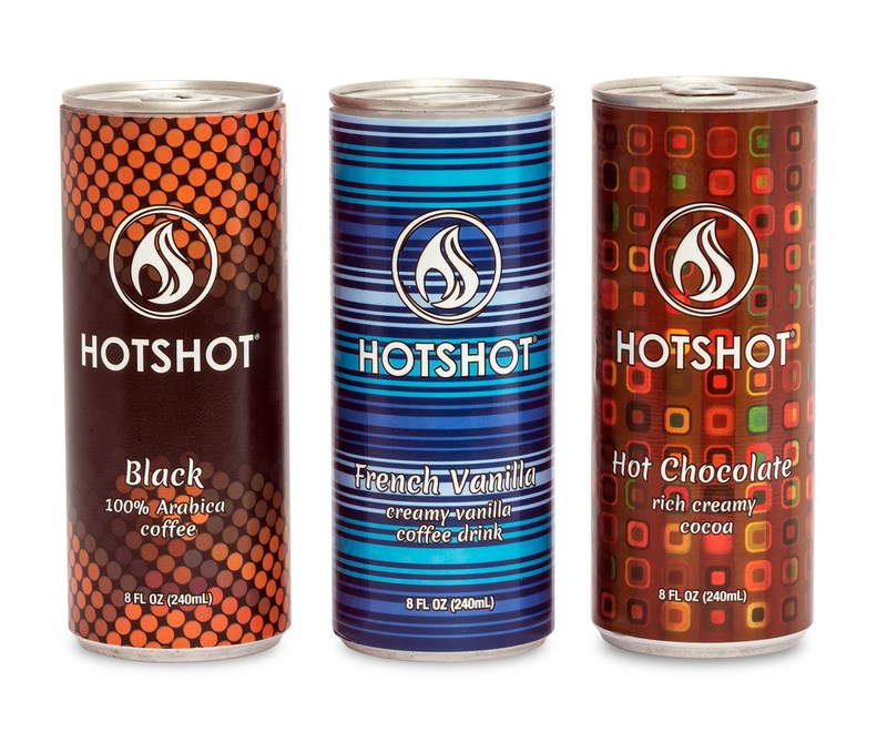 HotShot HOT coffee in a CAN