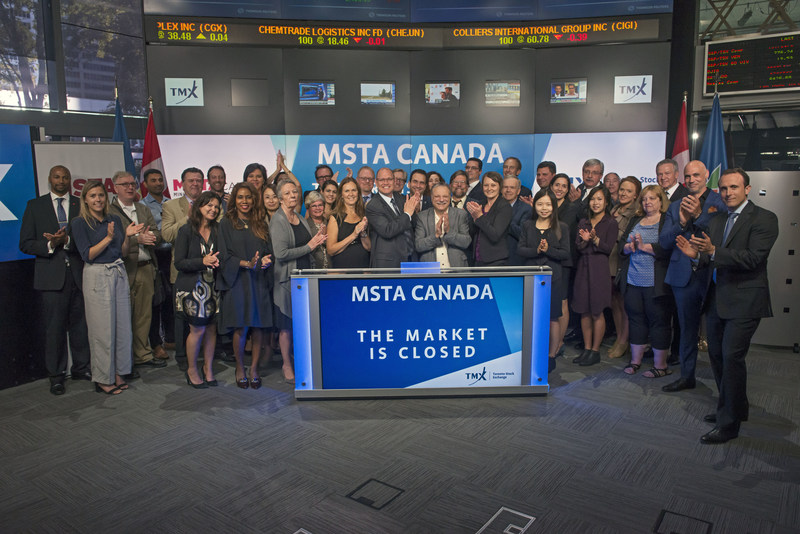 Board, staff and members of the mining service and supply sector celebrate the launch of MSTA CANADA. For more go to www.mstacanada.ca (CNW Group/Mining Suppliers Trade Association Canada)