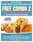 Free Combo Meals for First Responders at On The Border Restaurants in Florida - 9/19 and 9/26