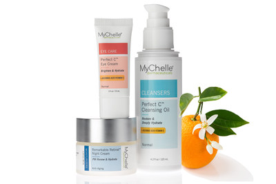 To defend against harmful external pollutants, national beauty brand MyChelle Dermaceuticals announces three additions to its innovative, professional-level ingredient pillars of Vitamin C and Vitamin A:  Perfect C™ Cleansing Oil, Perfect C™ Eye Cream, and Remarkable Retinal™ Night Cream. Daily use of these powerful antioxidants helps defend against environmental pollutants, brighten skin tone, and reduce the visible signs of aging.